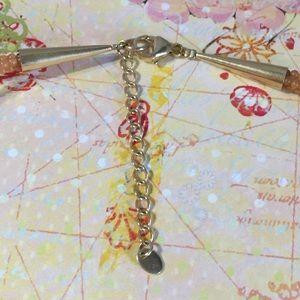Jewelry - Carnelian necklace & 4 fire opal bracelets